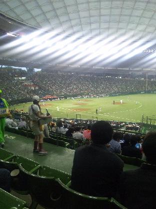 久しぶりの野球場